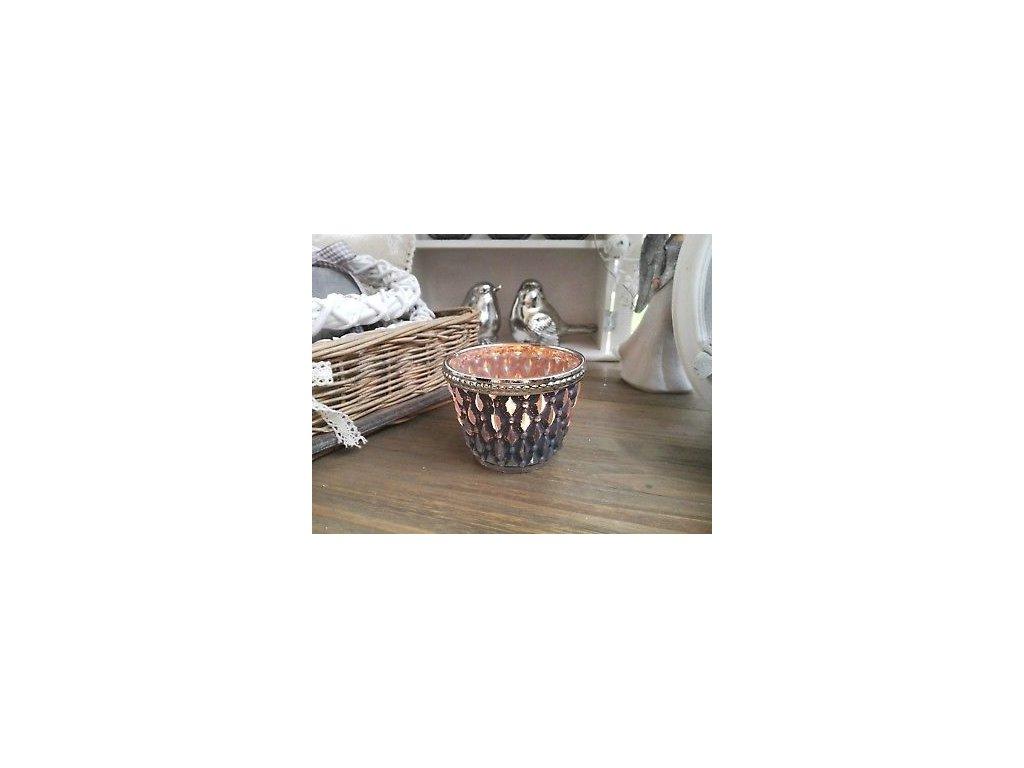 Svícen na čajovou svíčku - Ø 7*4 cm