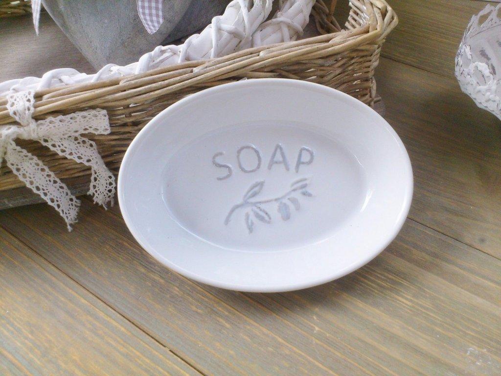 CLAYRE EEF Keramik SEIFENSCHALE SOAP oval Shabby
