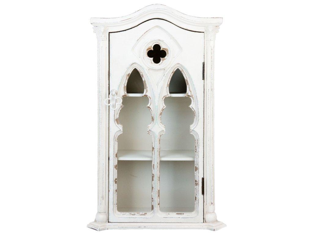 Nástěnná dřevěná skříňka - 49*22*79 cm