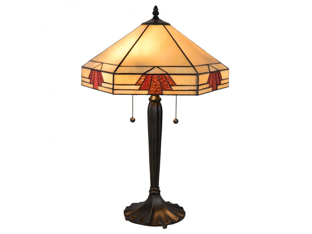 Stolní lampa Tiffany - 40*35*59 cm / E27 / Max. 2x60