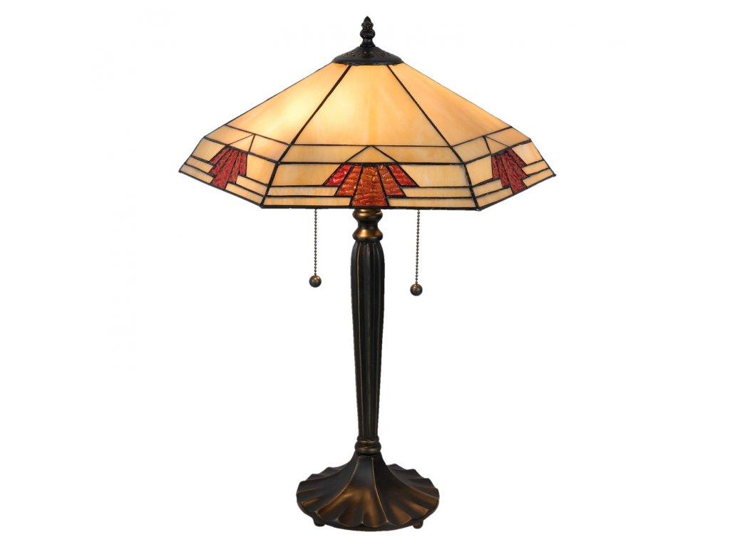 Stolní lampa Tiffany - 44*38*59 cm / E27 / Max. 2x60