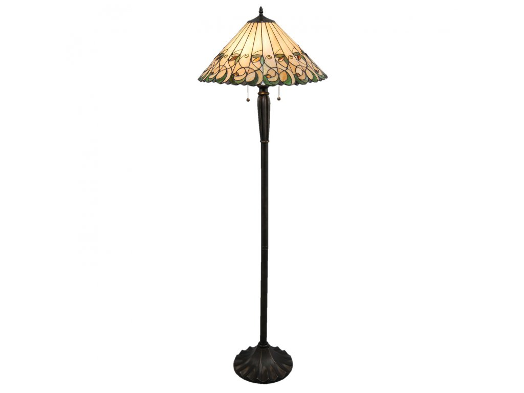 Stojací lampa Tiffany - Ø 52* 160 cm / E27/ Max. 2*60W