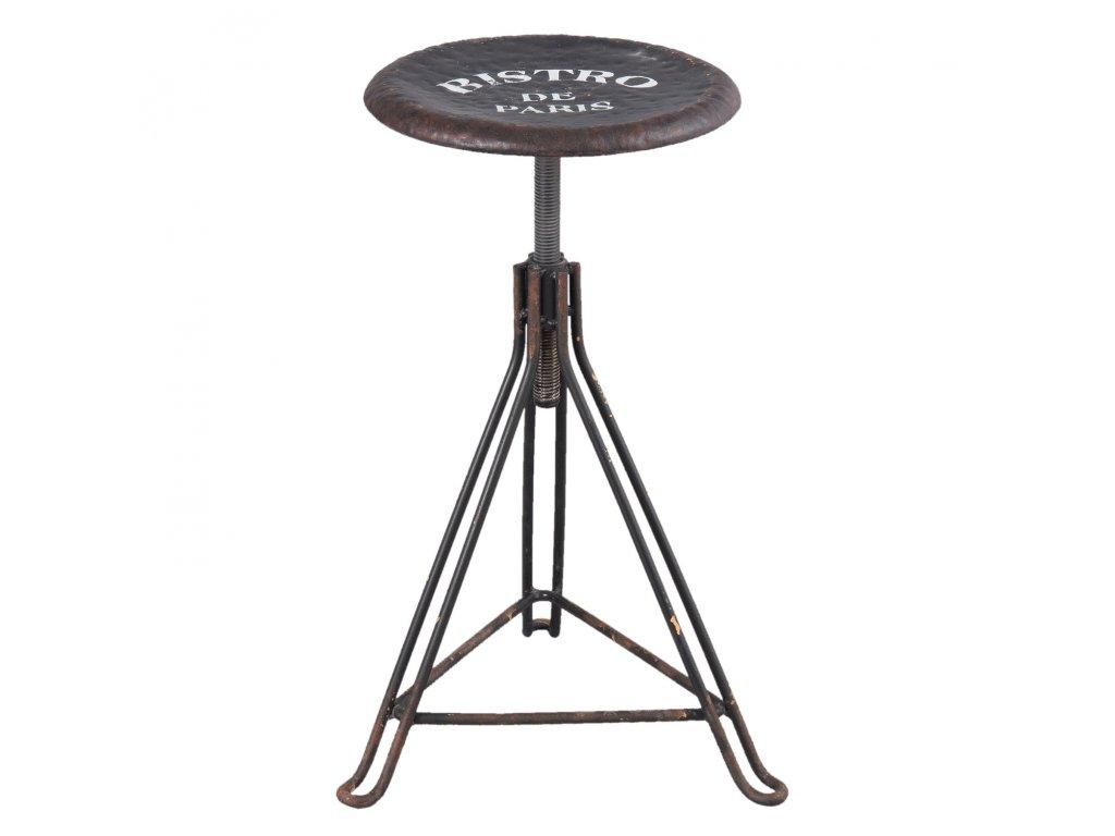 Kovová barová stolička BISTRO - 39*36*45-65 cm