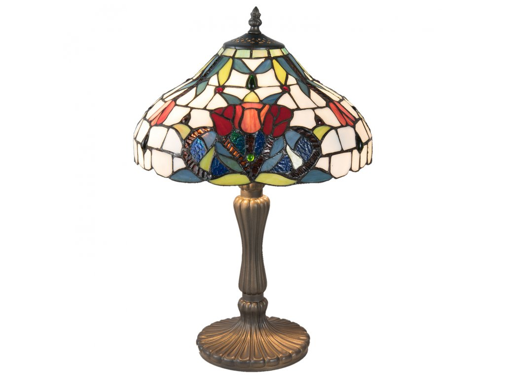 Stolní lampa TIFFANY - Ø 31*46 cm / E14/max 2*40W