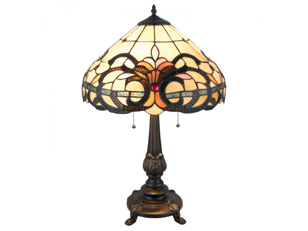 Stolní lampa TIFFANY - Ø 40*63 cm / E27/max 2*60W