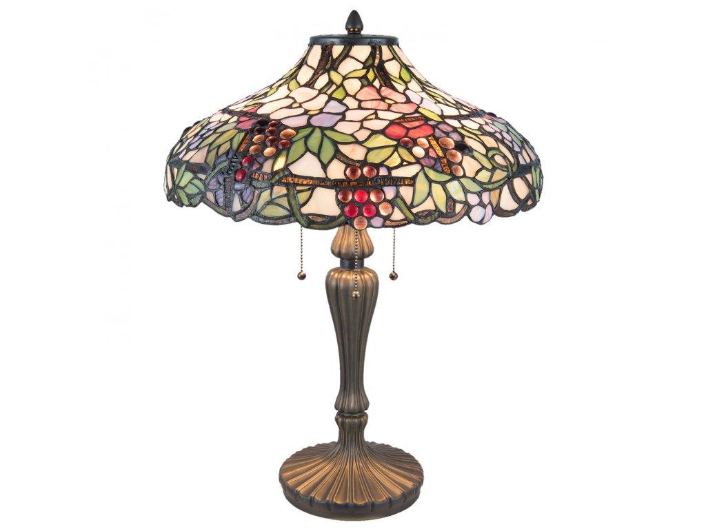 Stolní lampa TIFFANY - Ø 45*60 cm / E27/max 3*60W