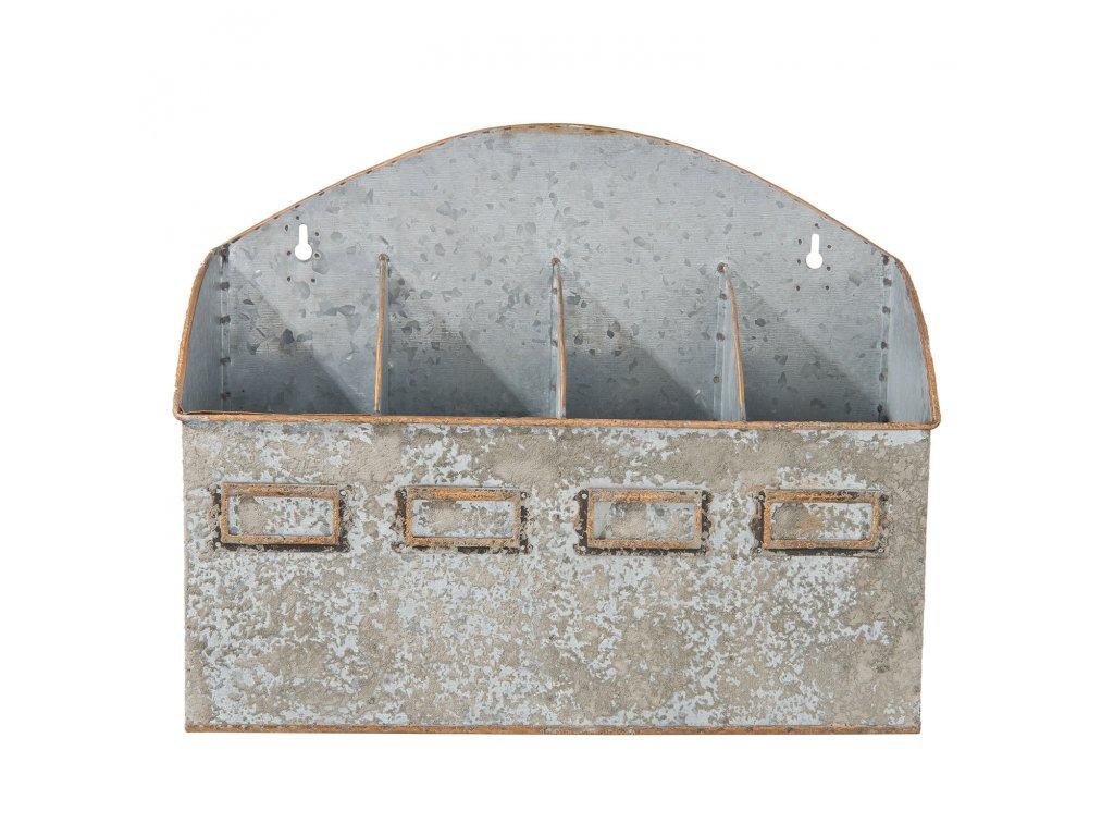 Nástěnný zásobník s přihrádkami - 33*10*27 cm