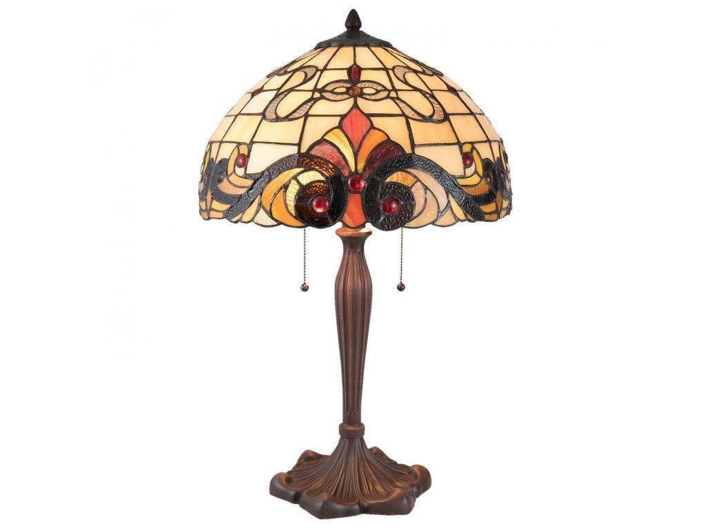 Stolní lampa TIFFANY - Ø 40*61 cm / E27/max 2*60W