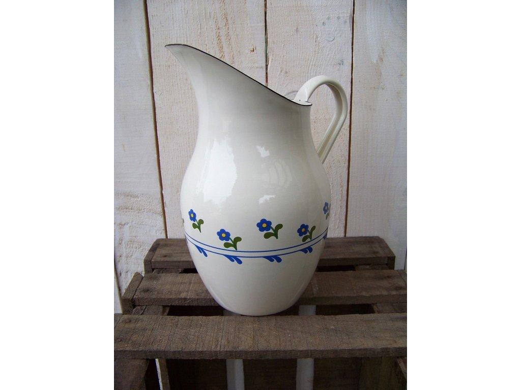 Emaille Krug Wasserkanne NEU Saftkrug Blumenvase Milchkrug Nostalgie