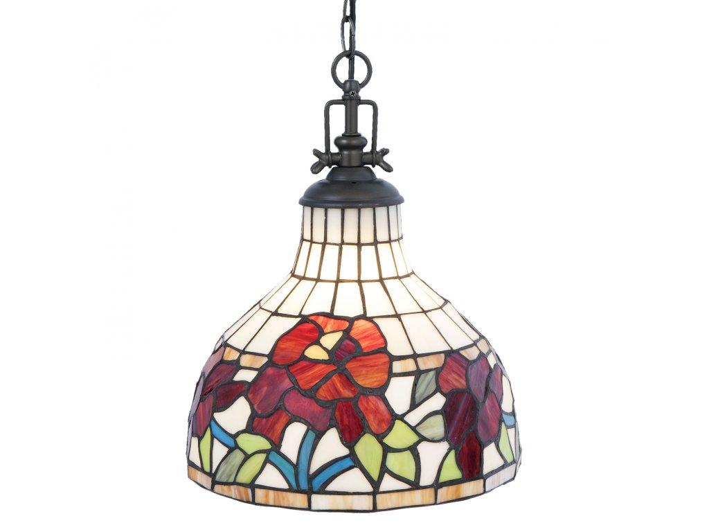 Závěsné světlo Tiffany - Ø 30*37 cm / E27/max 1*60W