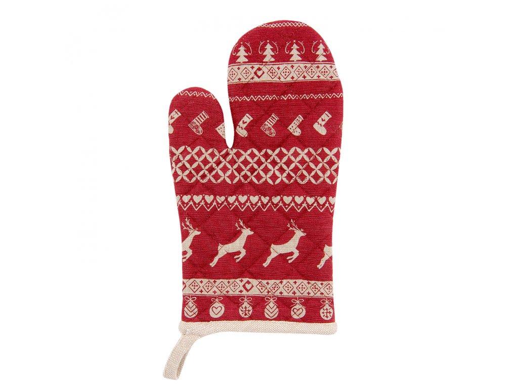 Kuchyňská chňapka Nordic Christmas - 16*30 cm