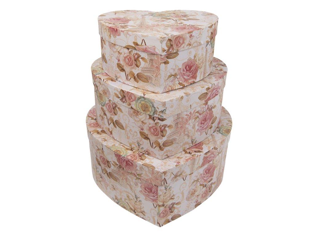 Úložné krabice ROSE -31*28*13/27*24*11/22*20*9 cm