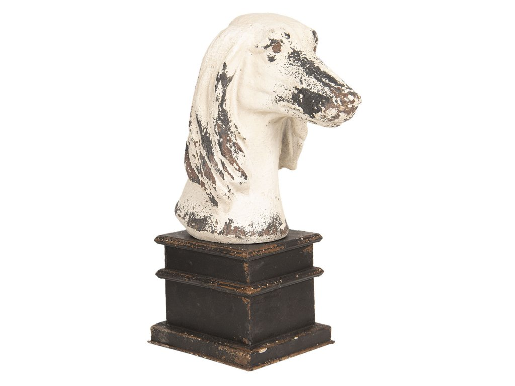 Bysta bílého psa - 33*18*45 cm