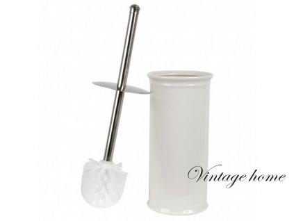 Kartáč na toaletu bílý -pr.11*24 cm Clayre eef