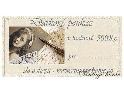 Dárkový poukaz - 500Kč