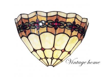 Nástěnná lampa Tiffany - 30*14*20 cm 1x E14 / Max 40W