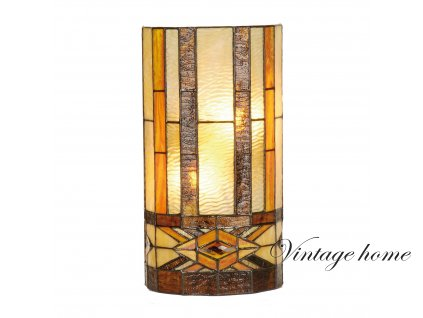 Nástěnná lampa Tiffany Amsterdam - 20*11*36 cm 2x E14 / Max 40W