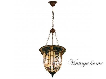 Závěsné svítidlo Tiffany /126 * pr 41 cm/ 3x E27/ 60W