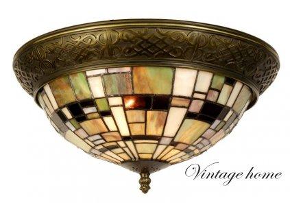 Stropní  svítidlo Tiffany - Ø 38*19 cm E14/max 2*40W