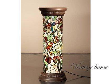 Stojací  lampa Tiffany- pr.31*78 cm 1x E27 / Max 60W