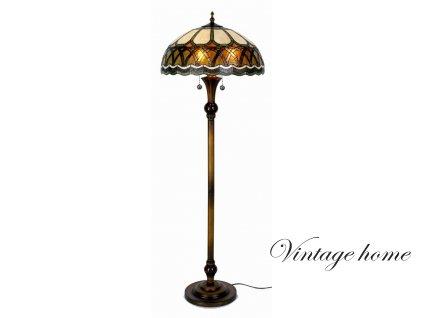 Stojací  lampa Tiffany - pr 56*164 cm 3x E27