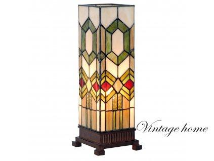 Stolní lampa Tiffany Gonos - 12.5*35 cm 1x E14 / max 40W