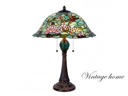 Stolní lampa Tiffany - pr.47*60 cm 3x E27 / max 60w