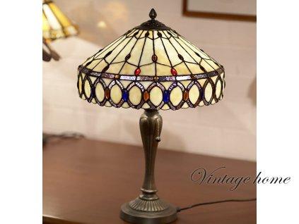 Stolní lampa Tiffany - 58 * pr 40 cm 2x E27 max