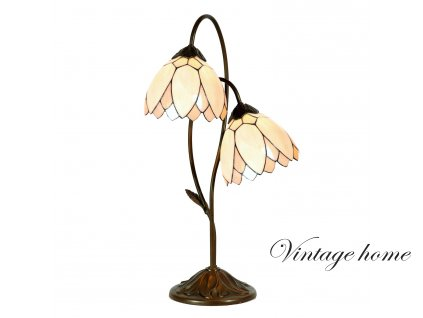 Stolní lampa  Tiffany - Ø 33*61 cm E14/max 2*25W