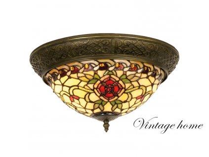 Stropní lampa Tiffany - Ø 38*19 cm 2x E14 / Max 40W