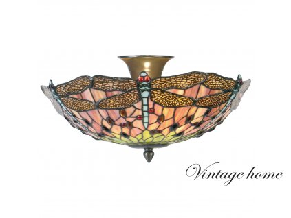 Stropní lampa Tiffany - Ø 40*23 cm 2x E14 / max 40w