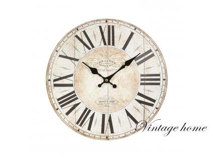 Nástěnné hodiny - pr.34*4 cm