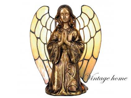 Dekorativní lampa Tiffany anděl - 20*18 cm 1x E14 / Max 40W
