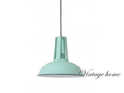Závěsné svítidlo v retro stylu - pr. 34x30 cm INEZ seagreen/shiny white