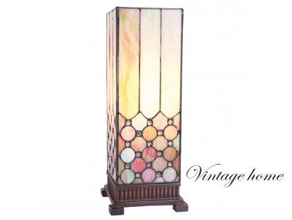 Stolní lampa Tiffany -  18*18*44 cm E27/40w