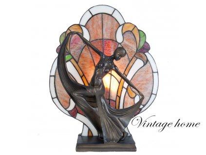 Stolní lampa Tiffany -  35*15*44 cm E14/40w