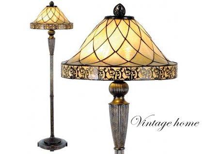 Stojací lampa Tiffany-pr.46*168 cm 2x E27 / Max 60W