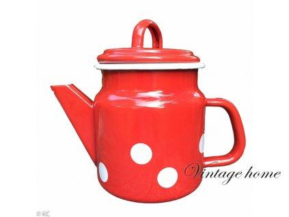 Smaltovaná konvička na čaj nebo kávu 12*17 / 1 L