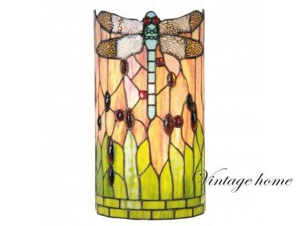 Nástěnná lampa Tiffany Dragonfly  -  20*11*36 cm 2x E14 / Max  40W
