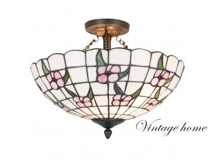 Závěsné světlo Tiffany- Ø 42*31 cm / E27 / 2*60W
