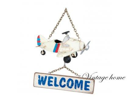 Uvítací dekorace ke vchodu AEROPLAN- 16*13*21 cm