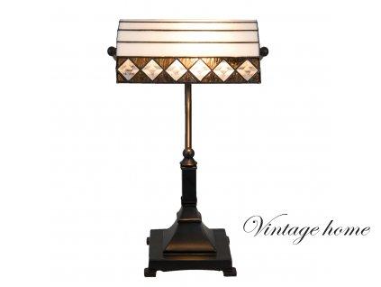 Stolní lampa Tiffany -26*20*43 cm / E27 / Max. 1x60