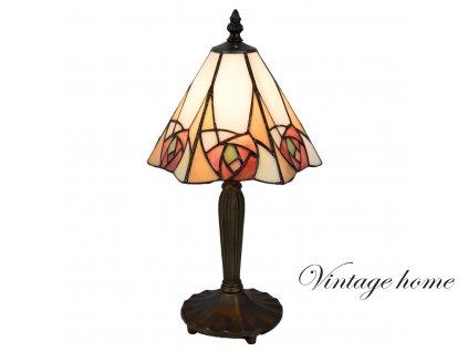 Stolní lampa Tiffany - 20*18*37 cm E14/max 1*40W