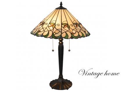 Stolní lampa Tiffany - Ø 43*62 cm / E27 / Max. 2x60W