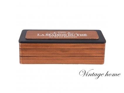 Krabička na čajové sáčky LA MAISON DU THÉ- 22*8*7 cm