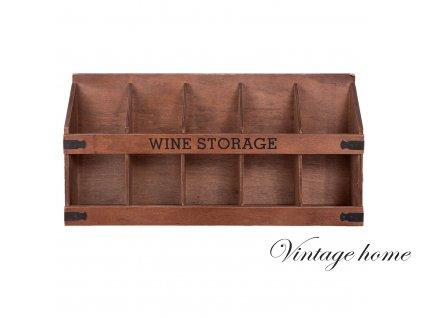 Nástěnná polička na lahve s vínem - 53*11*26 cm
