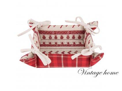 Košík na pečivo NORDIC CHRISTMAS - 35*35*8 cm