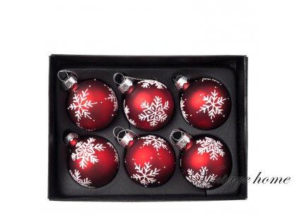 Vánoční ozdoba Ø 4 cm bal/12 ks