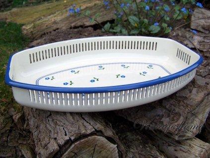 Smaltovaná mísa na pečivo nebo ovoce - 30*18*5 cm
