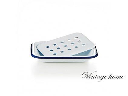 Smaltovaná miska na mýdlo / mýdlenka - 14 *2 cm